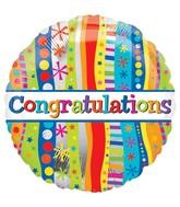 "18"" Congratulations Bold and Wavy Balloon"