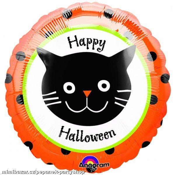 "18"" Halloween Dots Cat"