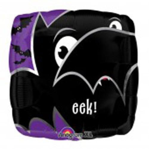 """18"""" Eek Bat Mylar Halloween Balloon"""