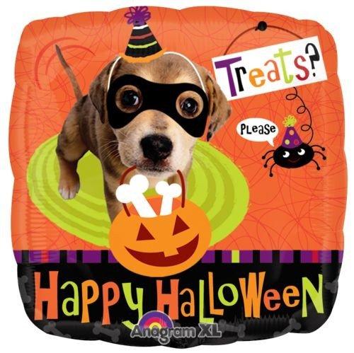 """18"""" Happy Halloween Dog Treats Balloon"""