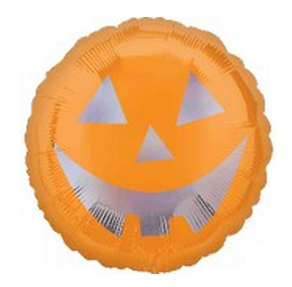 """18"""" Pumpkin Face Sheen Holographic"""