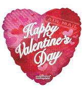 """4"""" Happy Valentine's Day Balloon Air Mail"""