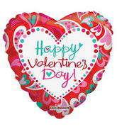 "9"" Happy Valentine's Day Balloon Fancy Hearts"