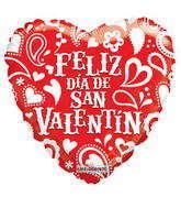 "18"" Feliz Dia De San Valentin Red"