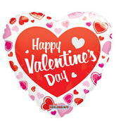 "18"" Happy Valentine's Day Balloon Classic Gellibean"