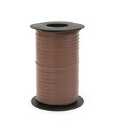 """3/16"""" Poly Curling Ribbed Ribbon Chocolate"""