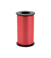 """3/16"""" Poly Curling Ribbed Ribbon Red"""