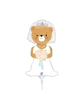 "14"" Aifill Only Mini Shape Bride Bear"