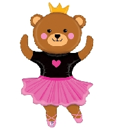 "48"" Foil Shape Dance Bear Ballerina"