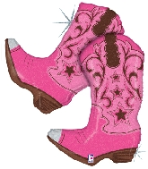 "36"" Holographic Western Pink Dancing Boots"