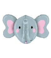"34"" Multi-Sided Foil Shape Dimensionals Elephant"
