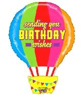 """30"""" Mighty Bright Shape Mighty Birthday Hot Air Balloon"""