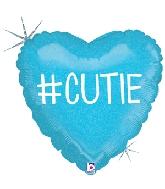 "18"" Holographic Balloon Hashtag Cutie Boy"