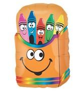 """28"""" Large Mylar Balloon Crayon Box"""