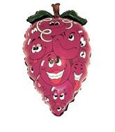 "28"" Purple Grapes Fruit Shaped Balloon"