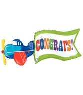 "43"" Foil Shape Balloon Airplane Congrats"