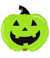 "28"" Mighty Bright Shape Balloon Mighty Green Pumpkin"