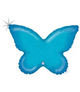 """30"""" Holographic Solid Color Butterfly Blue"""