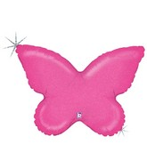 """30"""" Holographic Solid Color Butterfly Pink"""