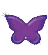 """30"""" Holographic Solid Color Butterfly Purple"""