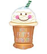 "32"" Foil Shape Balloon Frappy Birthday"