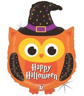 "32"" Holographic Shape Balloon Halloween Owl"