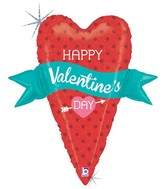 "29""Holographic Shape Balloon Valentine Banner Heart"
