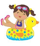 """41"""" Foil Shape Balloon Girl Floatie"""