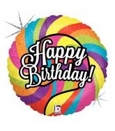 "18"" Holographic Balloon Lollipop Birthday"