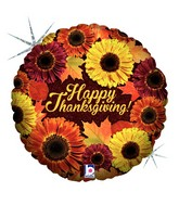 """18"""" Holographic Balloon Thanksgiving Blooms"""