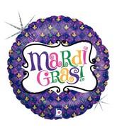 "18"" Holographic Balloon Mardi Gras Celebration"