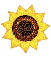 "42"" Sunflower Super Shape Balloon"