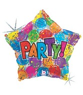 """19"""" Holographic Balloon Party! Star"""