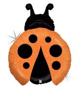 """27"""" Holographic Shape Balloon Little Ladybug - Orange"""