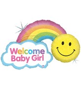 """45"""" Holographic Shape Packaged Rainbow Baby Girl"""