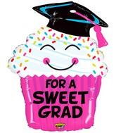 """30"""" Mighty Bright Shape Balloon Mighty Grad Cupcake"""