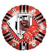 """18"""" Casino Chip Mylar Shape Balloon"""
