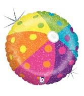 "18"" Holographic Balloon Tropical Beach Ball"