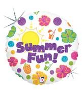 "18"" Holographic Balloon Summer Fun!"