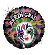 "18"" Holographic Balloon Mardi Gras"