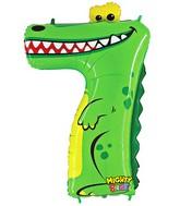 """40"""" Number 7 """"Crocodile"""" Jumbo Balloon (Polybag)"""