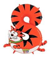 "40"" Number 8 ""Cat"" Jumbo Balloon (Polybag)"