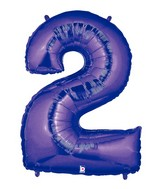 "40"" Large Number Balloon 2 Purple"