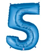 """40"""" Large Number Balloon 5 Blue"""