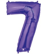 "40"" Large Number Balloon 7 Purple"