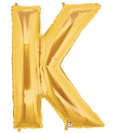"40"" Large Letter Balloon K Gold"