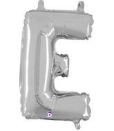 "14"" Valved Air-Filled Shape E Silver Balloon"