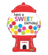 "31"" Mighty Bright Sweet Gumball Birthday Balloon"