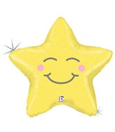 """26"""" Holographic Shape Chubby Star Balloon"""