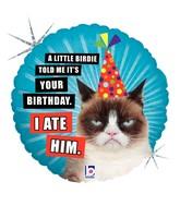 """18"""" Balloon Grumpy Cat® Birthday (I Ate Him) Balloon"""